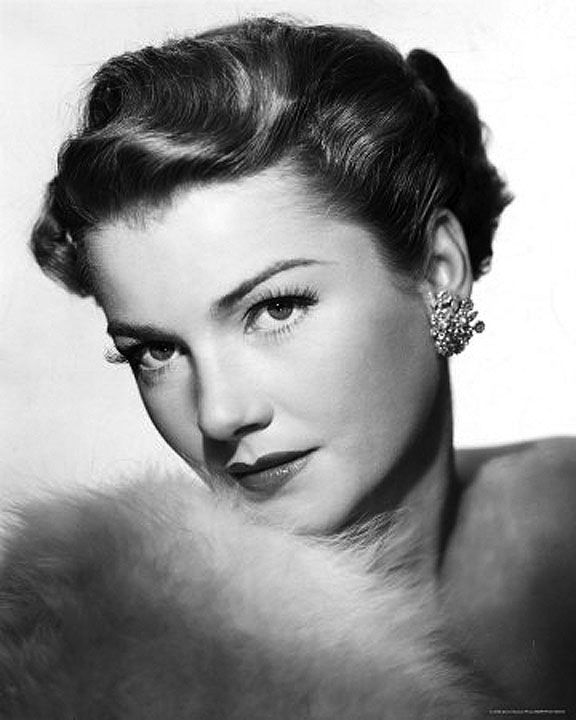 Anne Baxter (1923 - 1985) performances in films such as The Magnificent Ambersons (1942) and  I Confess(1953)