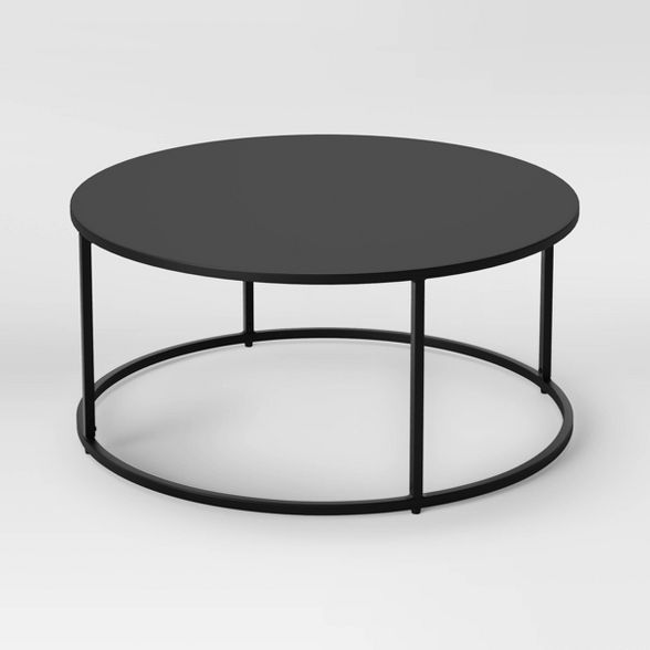 Glasgow Round Metal Coffee Table Black Project 62 Round Black Coffee Table Coffee Table Round Metal Coffee Table