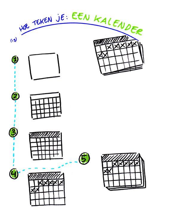 Hoe teken je... een kalender http://debetekenaar.nl/cursus/