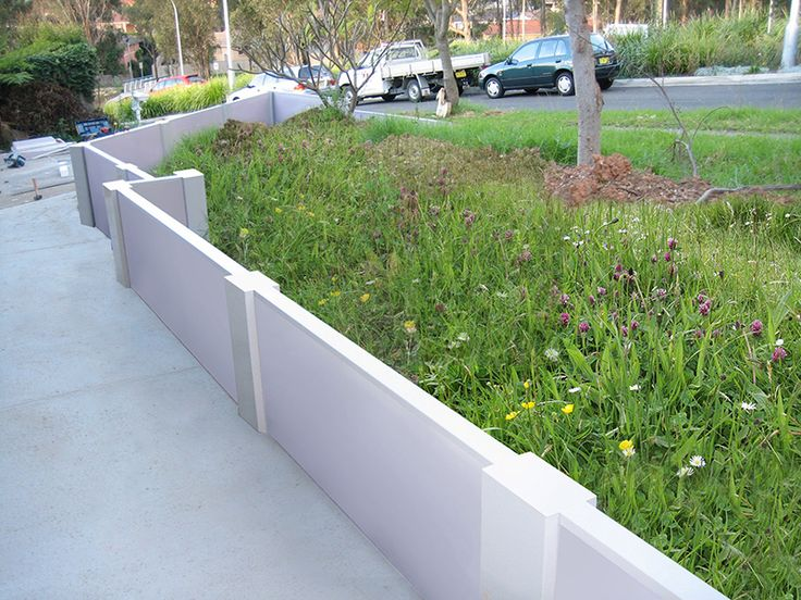 keeping things neat with a VogueWall retaining wall.