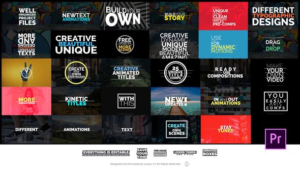 Title Animations For Premiere Pro Advertisement  Movie  Creative - animation title