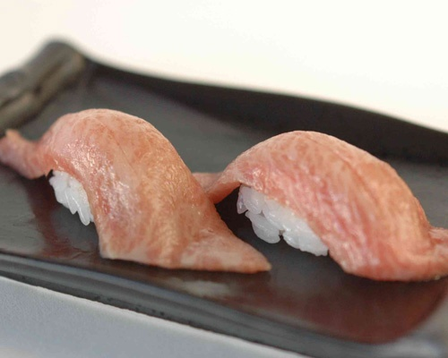 O-toro Sushi - Fatty Tuna Sushi.