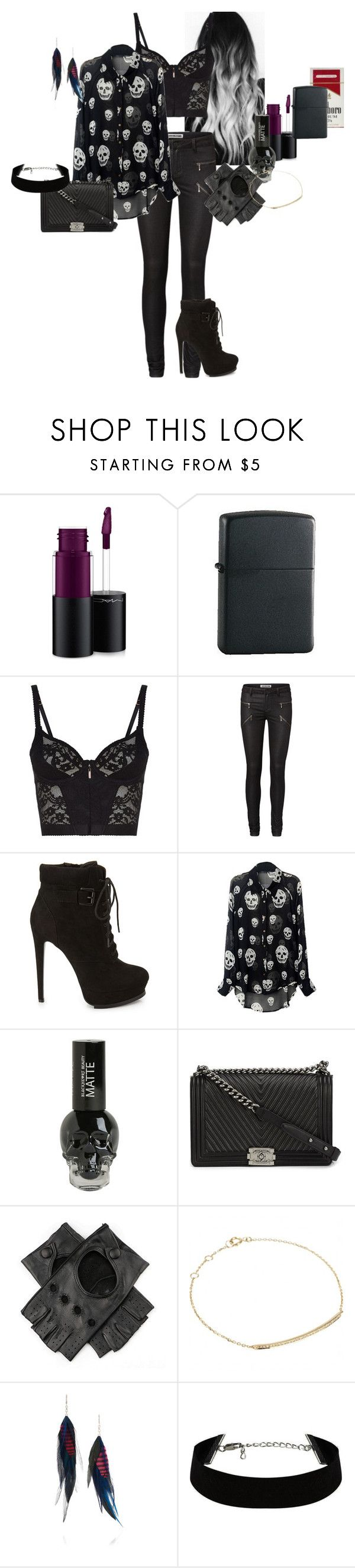 """""""Rosalie 'Lee' Stark - Day with Ash"""" by katlayden ❤ liked on Polyvore featuring MAC Cosmetics, Zippo, Agent Provocateur, Vero Moda, Forever 21, Chanel, Djula and Jeeyun Ha Designs"""