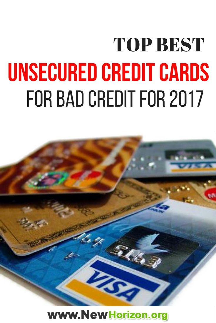 Here are the top unsecured credit cards for bad credit for 2017