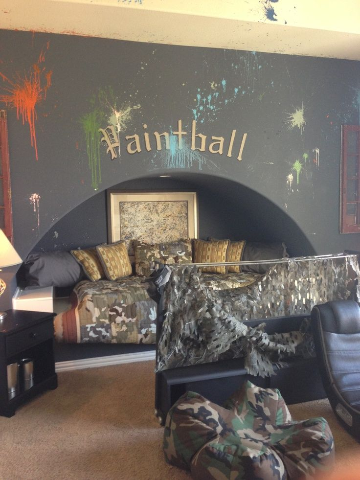 1000 images about paintball room on pinterest for Camo kids room