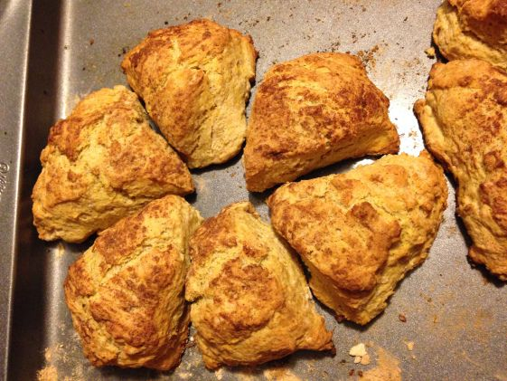 Flaky, buttery scones! I'm going to try them with some other flavors too :)