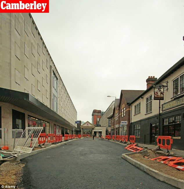Scenic: Camberley Town Centre has seen better days than in this photo. The town polled sixth most ugly town in the UK