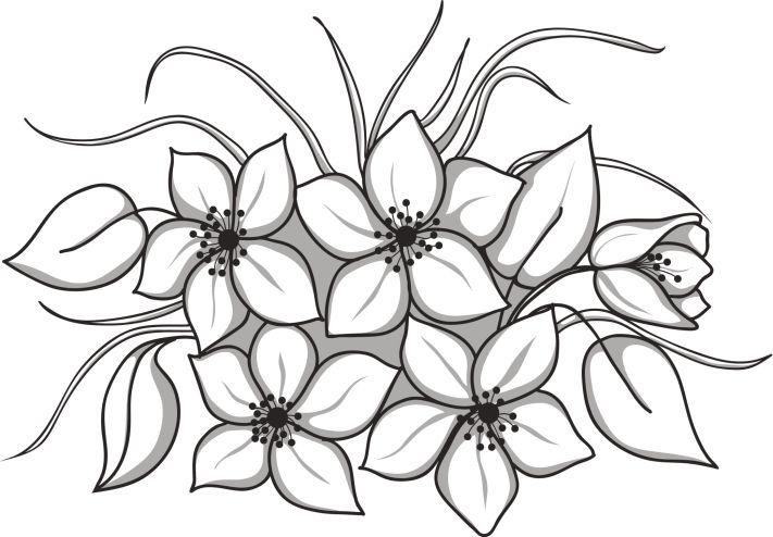 Dibujos de flores para imprimir y pintar las manualidades aplicaciones pinterest tela - Dibujos para pintar en tela ...