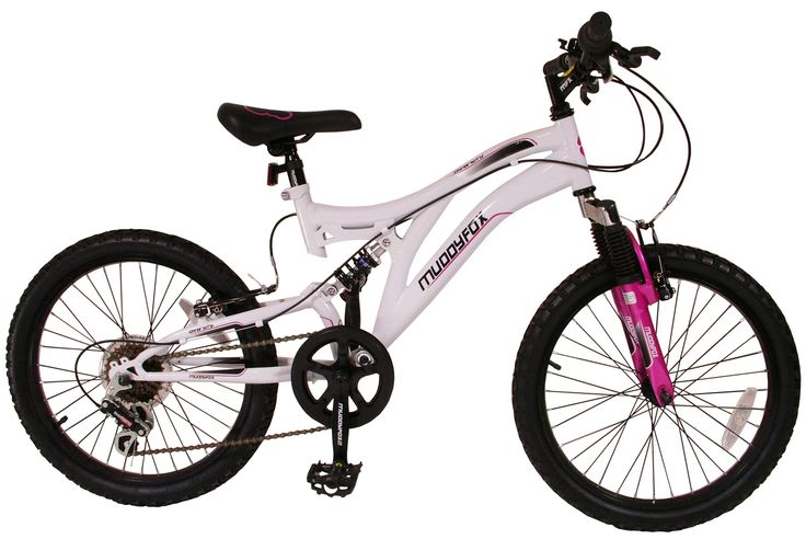 20 inch Girls Mountain Bike White and Pink