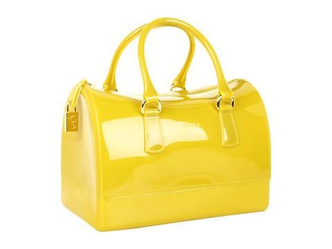 Furla Candy Bag Satchel Handbags - Lime