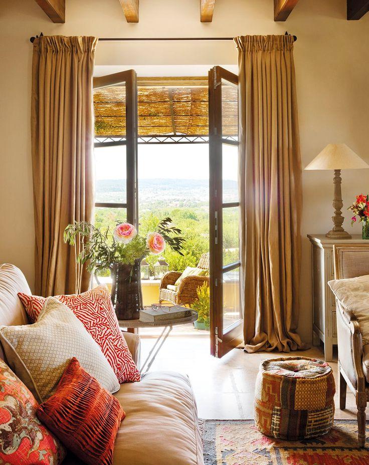 25 melhores ideias de cortinas r sticas no pinterest for Cortinas salon rustico