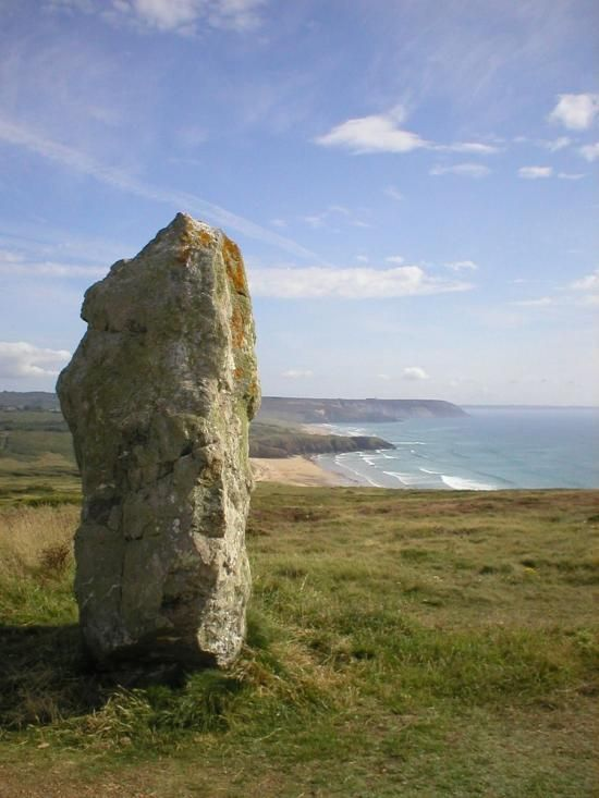 Grand menhir de Lostmarc'h. Finistere. Brittany