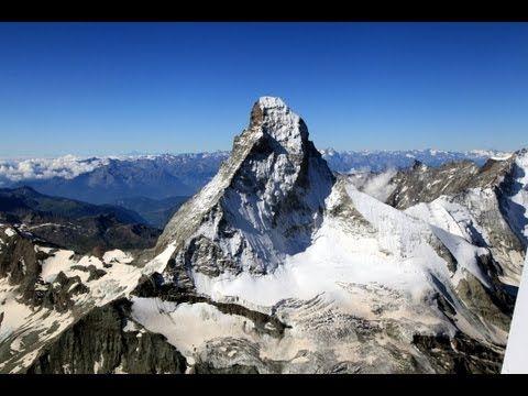 a flight through the Swiss Alps - YouTube