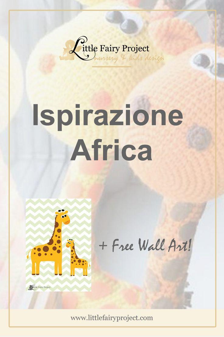 Cameretta ispirata da Safari Africano | Stile, mobili e decor ispirati da Africa | Idee e ispirazione | Consigli professionali + PDF gratuito da Little Fairy Project: Mummy and Baby Giraffe.