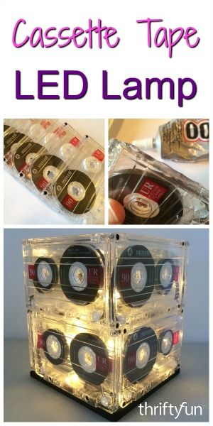 This is a guide about making a cassette tape lamp. The nostalgic feel of this lamp makes it a fun addition to your decor or to give as a gift.