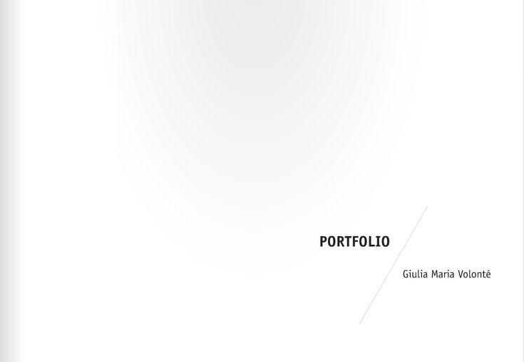 Simple Portfolio Cover Portfolio Inspiration Pinterest