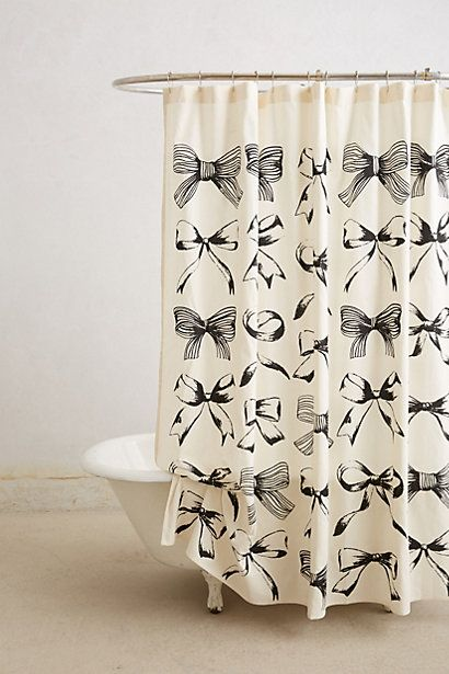 Sweet bow-tie shower curtain #anthrofave http://rstyle.me/n/ivtqinyg6