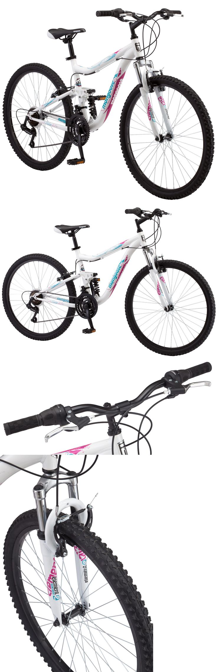 bicycles: 26 Mongoose Ledge 2.1 Dual Suspension Mountain Bike, White -> BUY IT NOW ONLY: $119.99 on eBay!