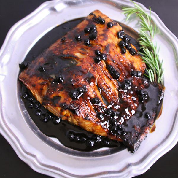 [lunch] Zalm met Blauwebessen Balsamico Saus