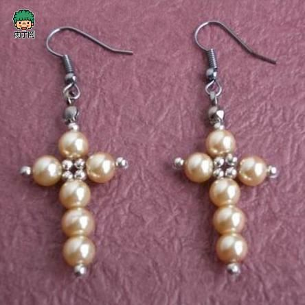 DIY handmade beaded jewelry earrings earrings make tutorial -╭ ★ diced network