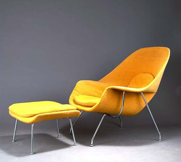 History Of Graphic Design ~ Field Journal 7. Womb ChairEero SaarinenUpholstered  ...