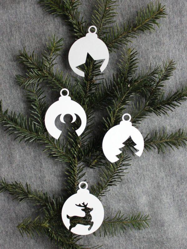 Weihnachtskugeln Aus Papier Mit Vorlage Handmade