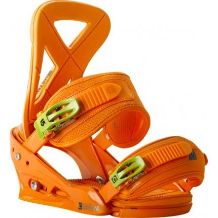 Burton custom binding reflex orange