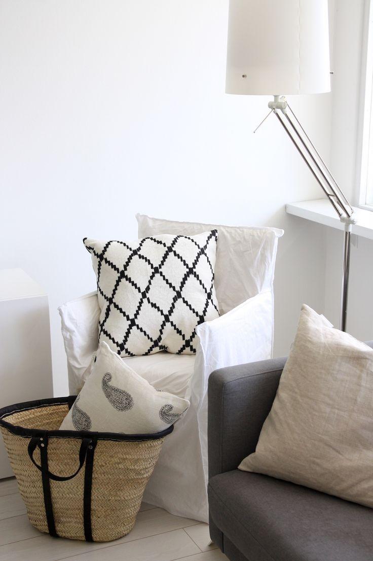 Homevialaura   Chhatwal & Jonsson   Ikat and New Paisley linen cushions from Zarro Store Helsinki