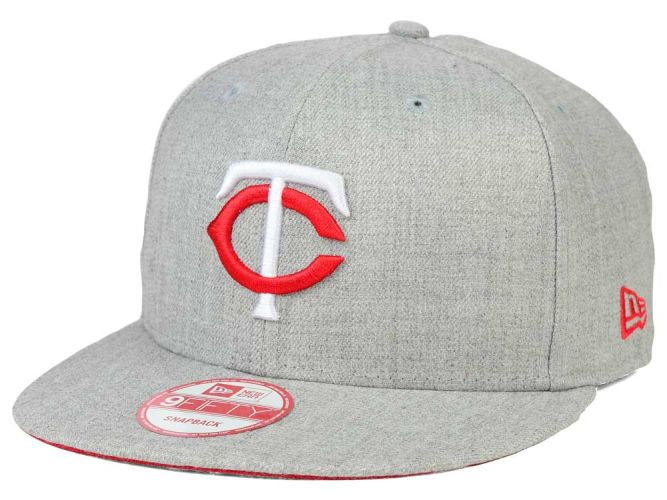 Minnesota Twins New Era MLB Heather Team Color 9FIFTY Snapback Cap Hats