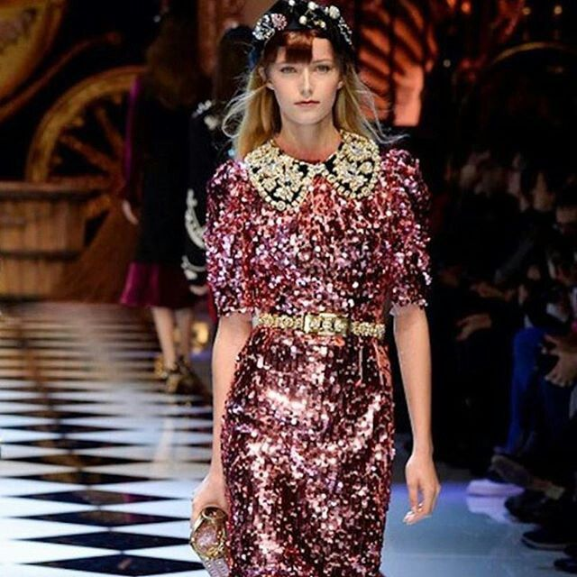 Dolce&Gabbana Fall-Winter 2016-17 #DGFabulousFantasy Women's Fashion Show. Sparkling Clothes, Precious Female Fabrics and Glitzy Accessories. Very Glamour! More insights on @dolcegabbana and #dgfw17. Also follow @voguerunway and #MFW.