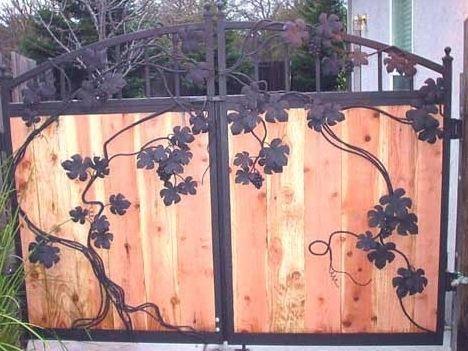 деревянные ворота 2