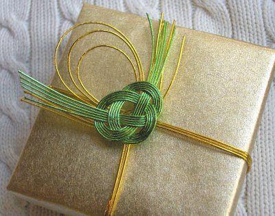 Mizuhiki embellished giftwrap