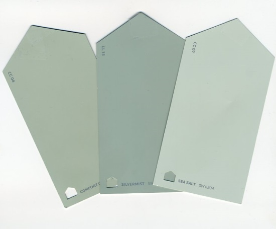 Blue Green Gray Paint Color House Color Decorating