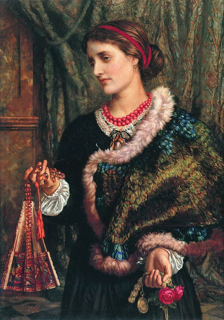 The Birthday (A Portrait Of The Artist's Wife, Edith) by William Holman Hunt, 1868
