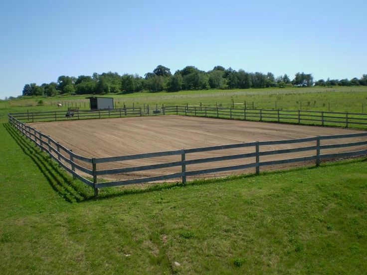 horse arena outdoor riding dimensions plans barn pen horses training round jumping fence dressage footing ranch equestrian dream barns indoor