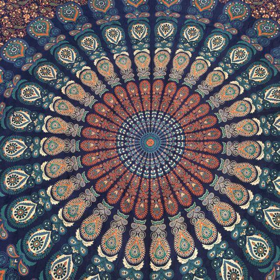 Mandala Bedspread Mandala strand deken Mandala door ViviandSam
