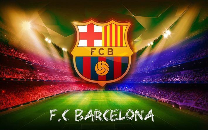Herunterladen hintergrundbild fc barcelona, kunst, fcb, la liga, barca, soccer, fußball-club barcelona, kreativ, laliga