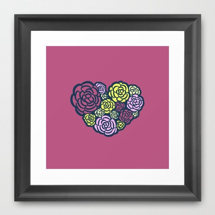 Heart of a Gardener Framed Art Print
