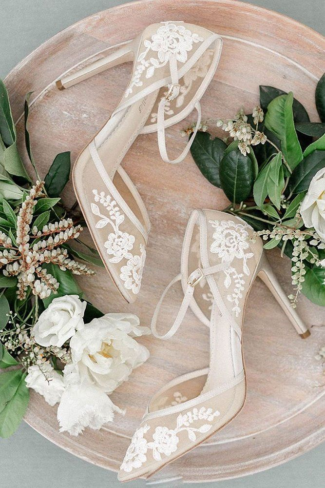 24 Most Wanted Wedding Shoes For Bride & Bridesmaids ❤  wedding shoes with heels lace bellabelleshoes #weddingforward #wedding #bride