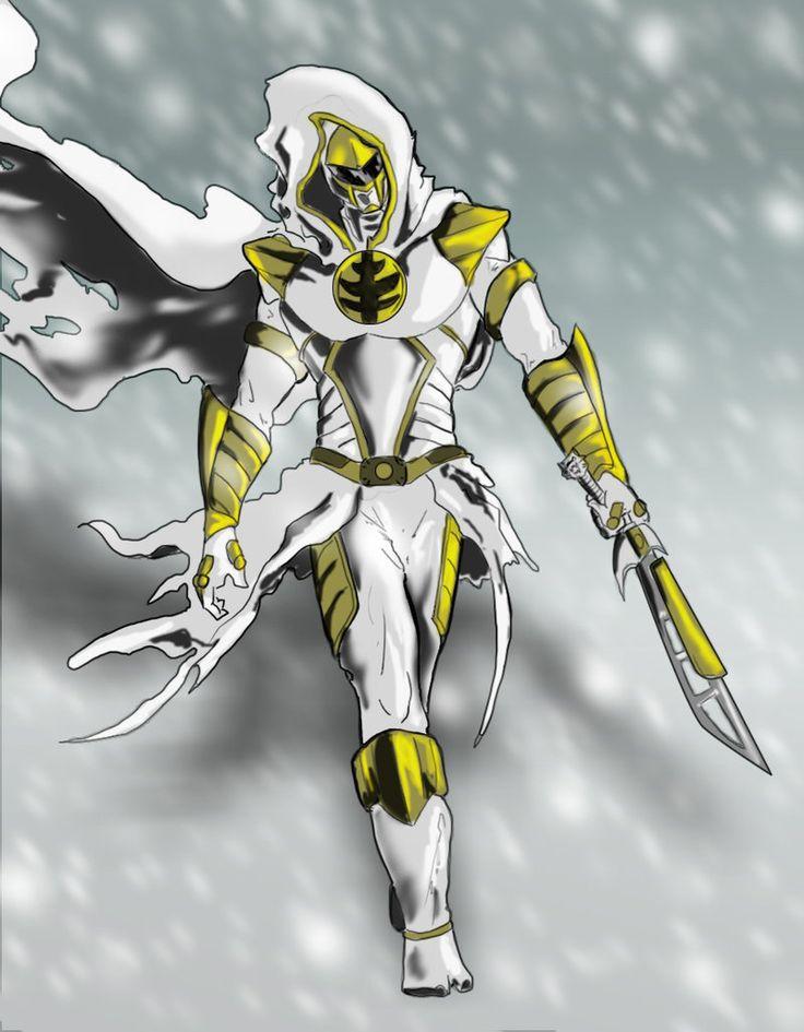 White Ranger Ninja by goldenmurals.deviantart.com on @DeviantArt