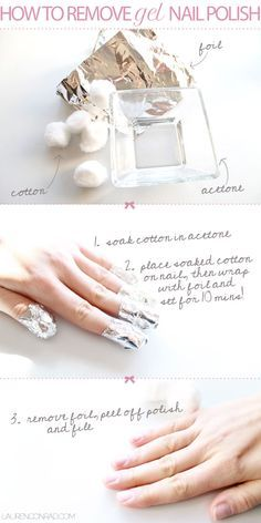 How To Remove Gel Nail Polish; this works better than soaking your nails in a dish full of acetone