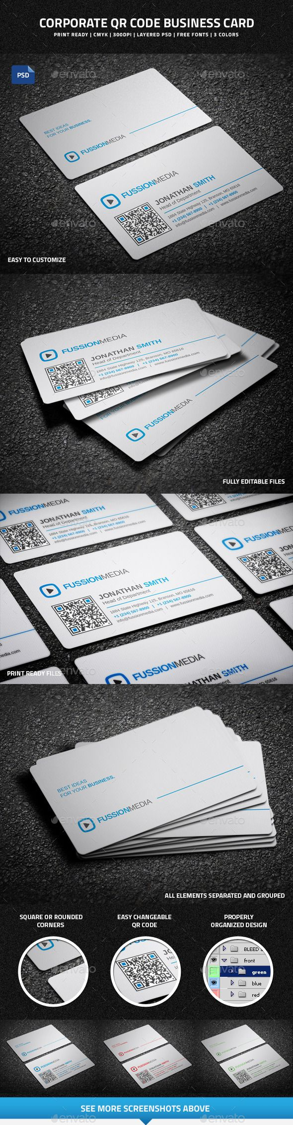 Latex Business Card Qr Code Images - Card Design And Card Template