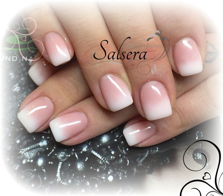 Nails, Nails, Baby Boomer, White, French Gradient, Square, Nail Design, Salsera Nails & Lashes, Frankfurt