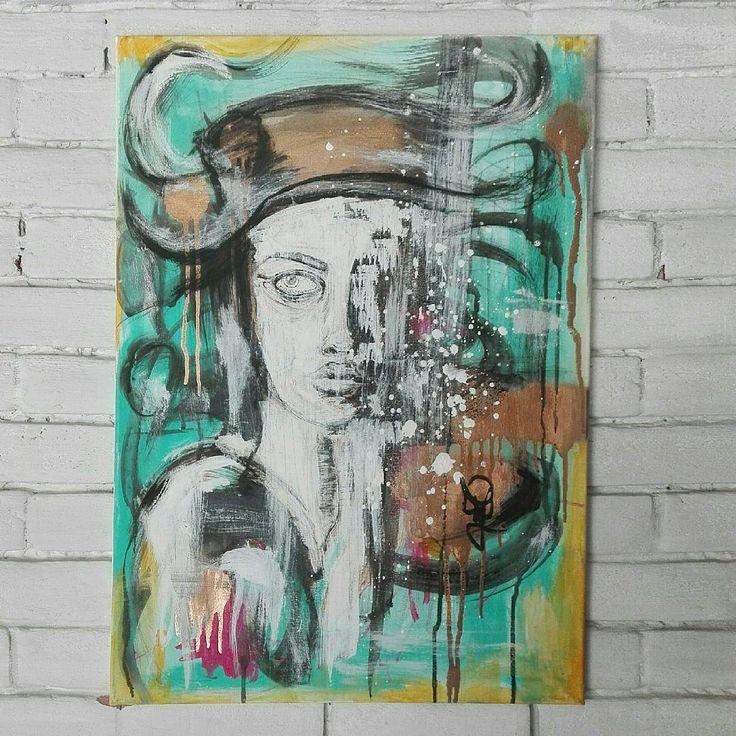 Mentha trip. by janofarkas.art . . [ P a i n t i n g ] .    #art #artist #painter #graphic  #painting #acryl #canvas #blvck #surrealism #actionart #psychedelic #dope #high #trip #acid #lsd #contemporary #contemporaryart #janofarkas #artwork #supreme #graphic #illustration