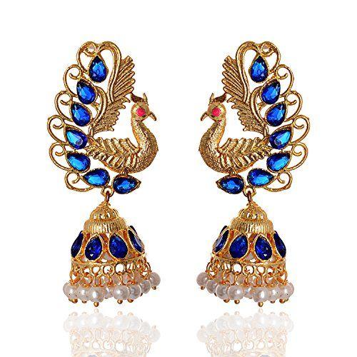 f51aaeeeee Geode Delight Gold Plated Peacock Design Earring For Women | Women ...