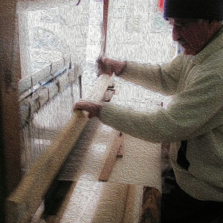 Turkish weaver at his loom
