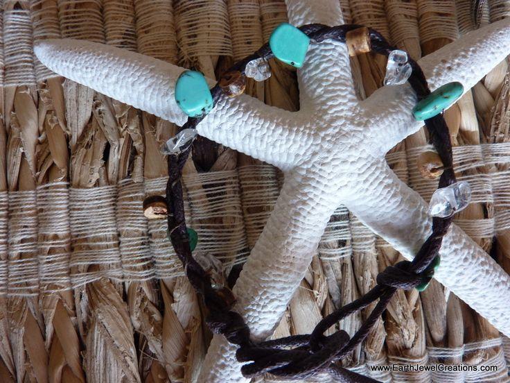 Tribal Woven Gemstone Bracelet - Inspirational handmade gemstone jewellery Earth Jewel Creations Australia