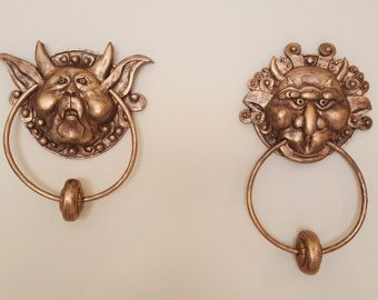 The Labyrinth Door Knockers Pair Left and by MeadowhawkProps