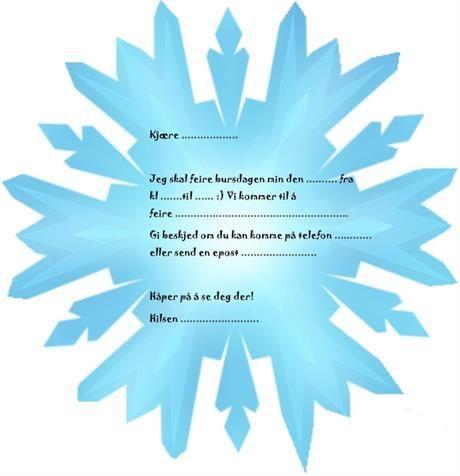 Frost invitasjoner til Frost bursdag. DIY - gjør det selv