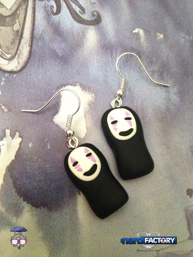 NoFace earrings, hand-made!
